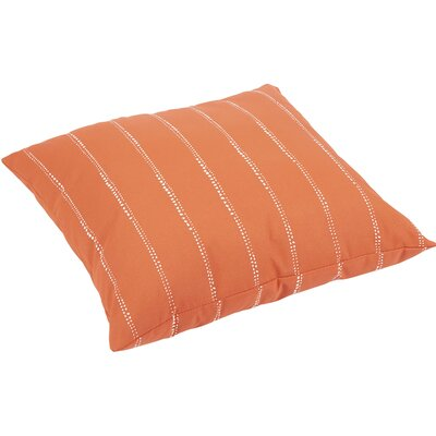 Balentine Traditional Indoor/Outdoor Throw Pillow Color: Orange