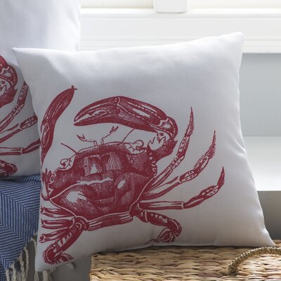 Sweetwood Charming Crab Outdoor Throw Pillow Size: 26 W x 26 D