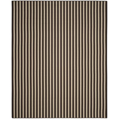Verde Ivory/Brown Indoor/Outdoor Area Rug Rug Size: 36 x 56