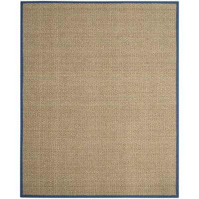Campbellton Fiber Natural/Navy Area Rug Rug Size: Square 6
