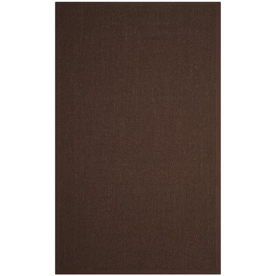 Campbellton Fiber Chocolate/Dark Brown Area Rug Rug Size: 3 x 5