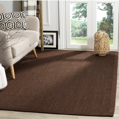 Campbellton Fiber Chocolate/Dark Brown Area Rug Rug Size: Square 6