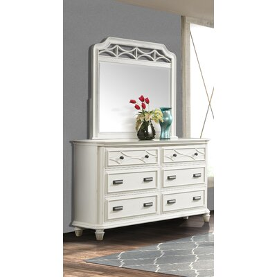 Waddell 6 Drawer Dresser with Mirror