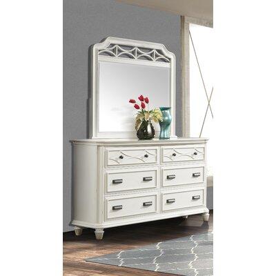 Waddell 6 Drawer Dresser with Mirror