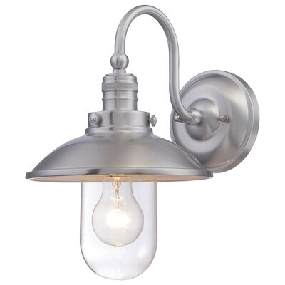 Roselawn 1-Light Outdoor Barn Light Finish: Brushed Aluminum