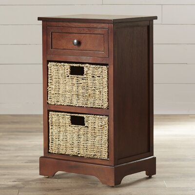 Balsam 1 Drawer End Table Finish: Walnut