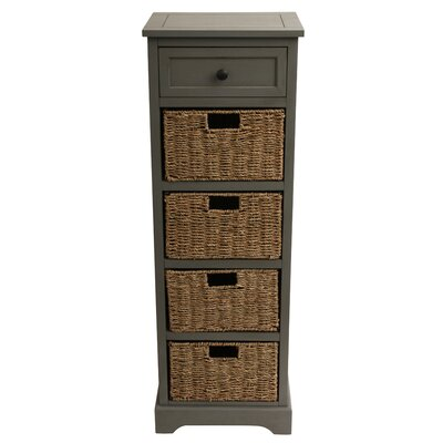 Balsam 5 Drawer Accent Chest Finish: Antique Gray