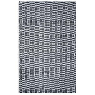 Jammie Hand-Loomed White Area Rug Rug Size: Runner 26 x 8
