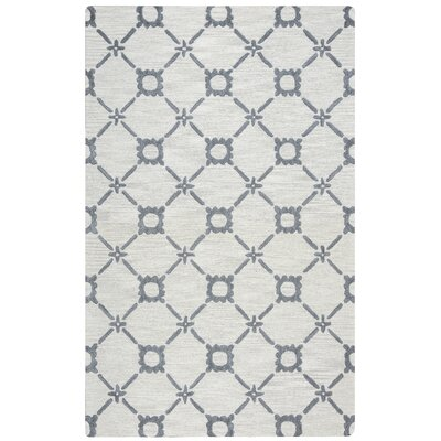 Anniedale Hand-Tufted Wool Gray Area Rug Rug Size: Rectangle 5 x 8