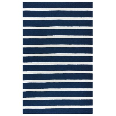 Lyndon Hand-Tufted Indigo Indoor/Outdoor Area Rug Size: 36 x 56