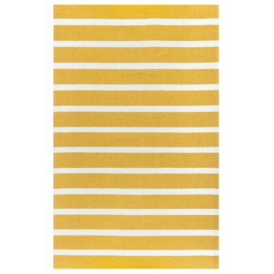 Lyndon Hand-Tufted Gold Indoor/Outdoor Area Rug Size: 76 x 96