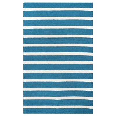Lyndon Hand-Tufted Marine Blue Indoor/Outdoor Area Rug Size: 76 x 96
