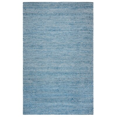 Jammie Hand-Loomed Blue Area Rug Rug Size: 5 x 8