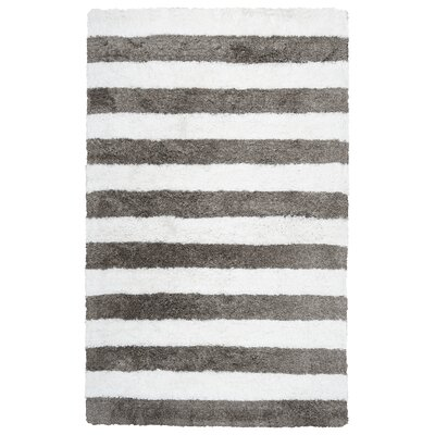 Dublin Hand-Tufted Ivory/Gray Indoor/Outdoor Area Rug Size: 5 x 8