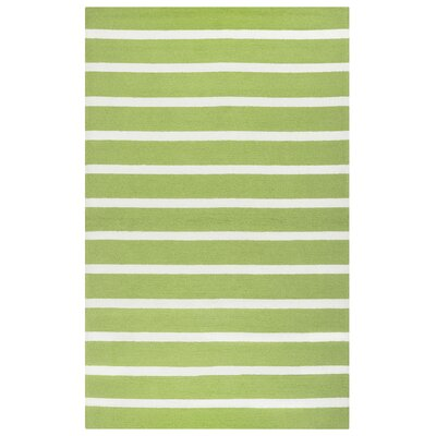 Lyndon Hand-Tufted Lime Indoor/Outdoor Area Rug Size: Rectangle 36 x 56