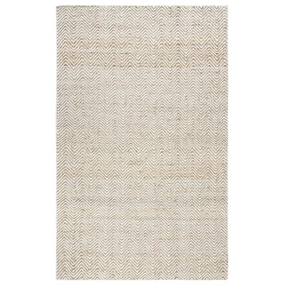Jammie Hand-Loomed Natural Area Rug Rug Size: 5 x 8