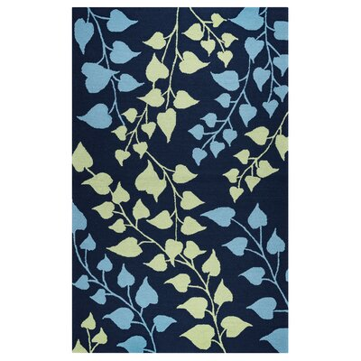 Carsdale Hand-Tufted Indigo Indoor/Outdoor Area Rug Size: 36 x 56