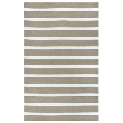 Lilesville Hand-Tufted Taupe Indoor/Outdoor Area Rug Size: 5 x 76