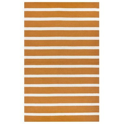 Lyndon Hand-Tufted Orange Indoor/Outdoor Area Rug Size: 36 x 56