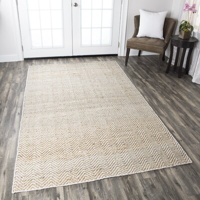 Jammie Hand-Loomed Natural Area Rug Rug Size: 2 x 3