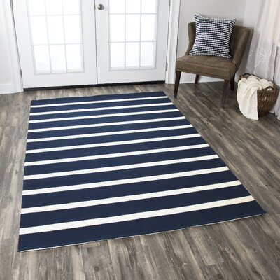 Lilesville Hand-Tufted Indigo Indoor/Outdoor Area Rug
