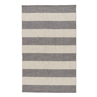 Bayshore Flat-Woven Wool Gray Area Rug Rug Size: Rectangle 4 x 6