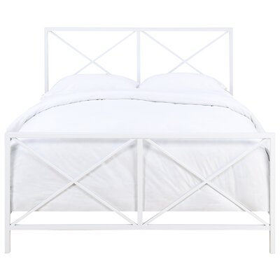 Ormond Beach All-In-One X Gloss White Metal Bed