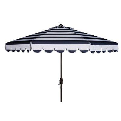 8 Lambeth Stripe Crank Drape Umbrella