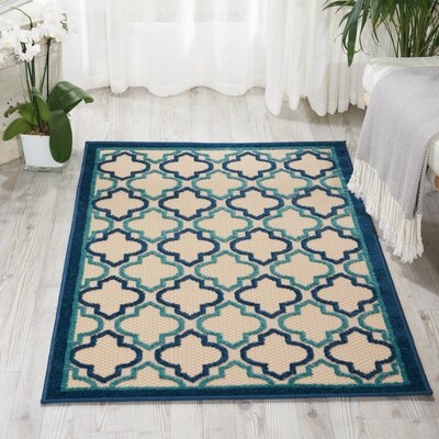 Ardleigh Navy Indoor/Outdoor Area Rug Rug Size: 53 x 75