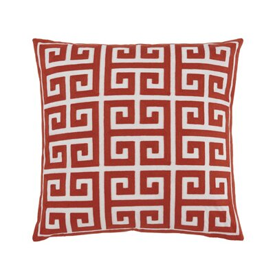 Churchill Throw Pillow Cover Color: Coral