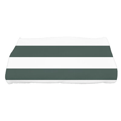 Inwood Peace 2 Stripe Bath Towel Color: Green