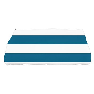 Westfield Stripe Bath Towel Color: Teal
