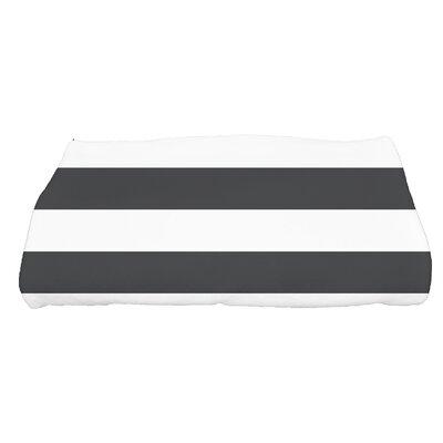 Inwood Peace 2 Stripe Bath Towel Color: Black