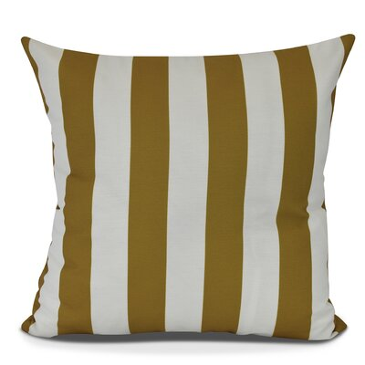Inwood Rugby Stripe Outdoor Throw Pillow Size: 20 H x 20 W, Color: Yellow