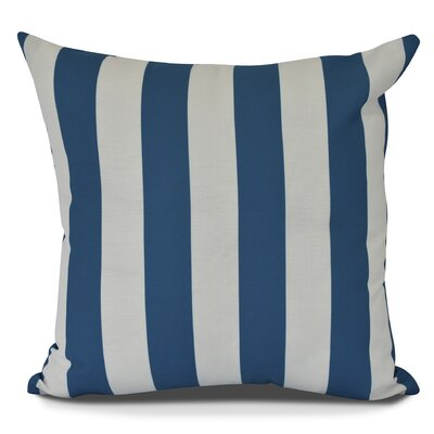 Inwood Rugby Stripe Outdoor Throw Pillow Color: Teal, Size: 20 H x 20 W