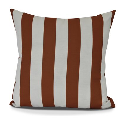 Inwood Rugby Stripe Throw Pillow Color: Orange, Size: 18 H x 18 W