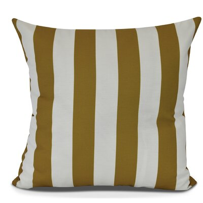 Inwood Rugby Stripe Throw Pillow Color: Yellow, Size: 18 H x 18 W