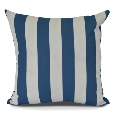 Inwood Rugby Stripe Throw Pillow Size: 20 H x 20 W, Color: Teal