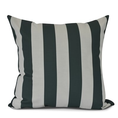 Inwood Rugby Stripe Throw Pillow Size: 20 H x 20 W, Color: Green