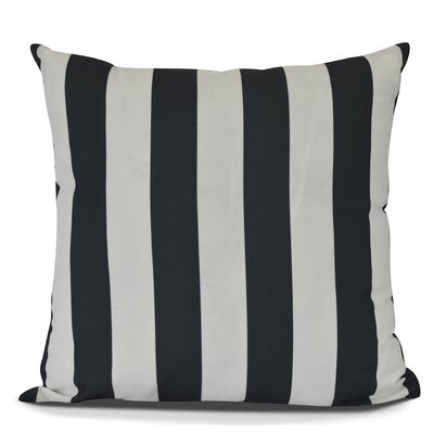 Inwood Rugby Stripe Throw Pillow Size: 16 H x 16 W, Color: Black