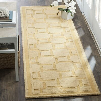 Resort Hand-Loomed Dried Chamomile Area Rug Rug Size: Runner 23 x 8