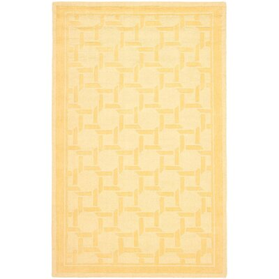 Resort Hand-Loomed Dried Chamomile Area Rug Rug Size: 5 x 8