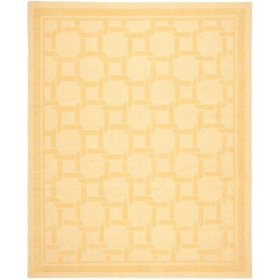Resort Hand-Loomed Dried Chamomile Area Rug Rug Size: 9 x 12