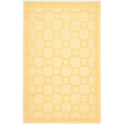 Resort Hand-Loomed Dried Chamomile Area Rug Rug Size: 4 x 6