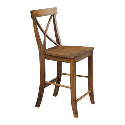 Shoreham 24 Bar Stool Finish: Pecan