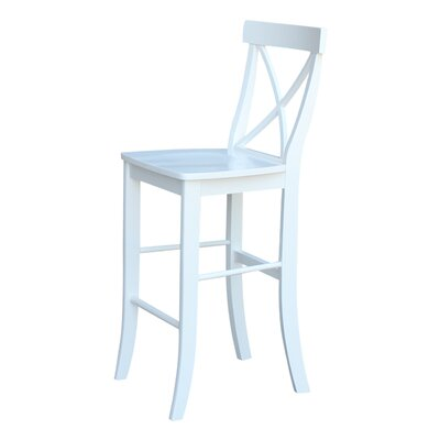 Downey 29 Bar Stool Color: White