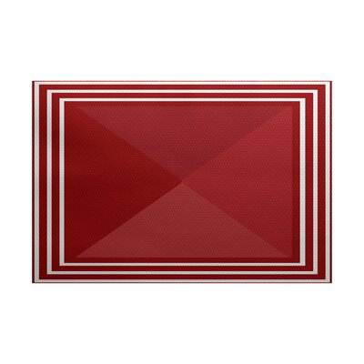 Bartow Red Indoor/Outdoor Area Rug Rug Size: 5 x 7