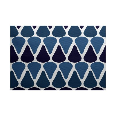 Bartow Blue Indoor/Outdoor Area Rug Rug Size: 4 x 6
