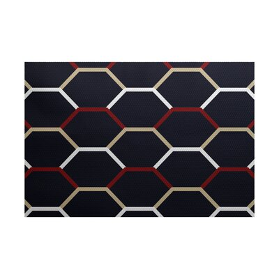 Golden Gate Woven Blue Indoor/Outdoor Area Rug Rug Size: 4 x 6