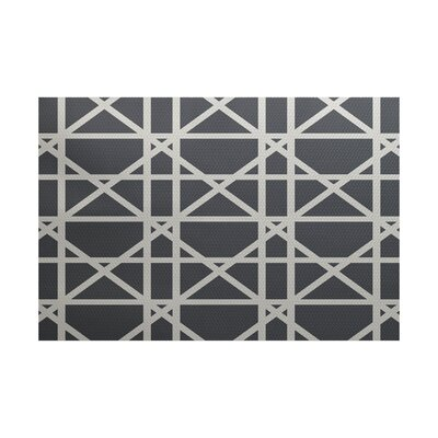 Felles Geometric Print Gray Indoor/Outdoor Area Rug Rug Size: Rectangle 3 x 5